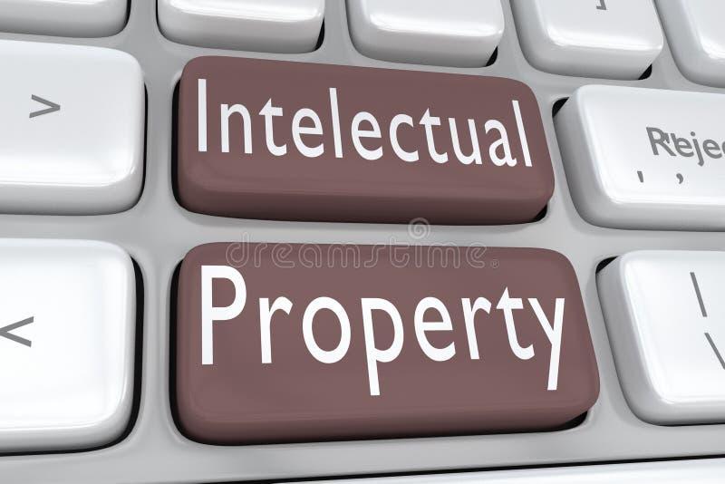 Концепция интеллектуальной собственности бесплатная иллюстрация