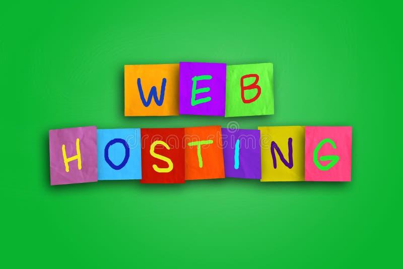 Концепция интернета веб - хостинга стоковое изображение rf