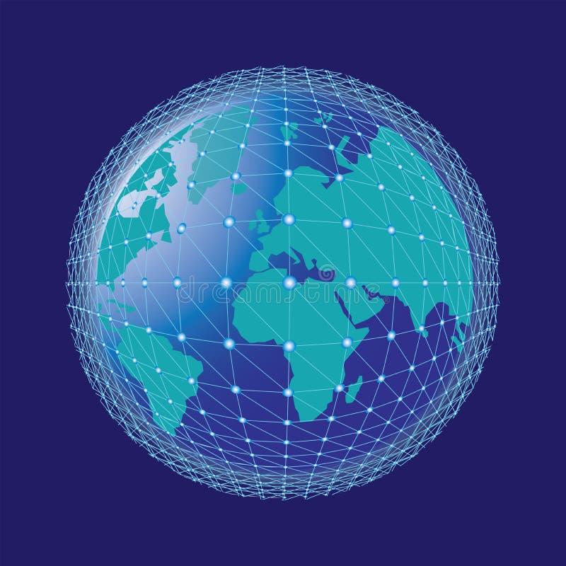 Концепция интернета глобального бизнеса иллюстрация штока