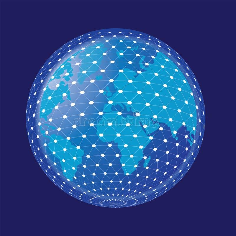 Концепция интернета глобального бизнеса иллюстрация вектора