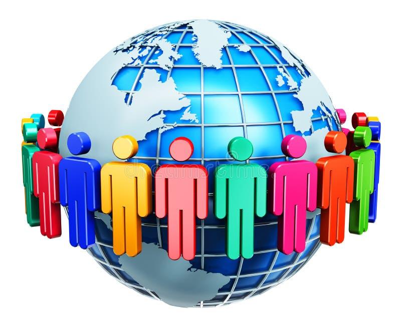 Концепция интернета глобальной связи бесплатная иллюстрация