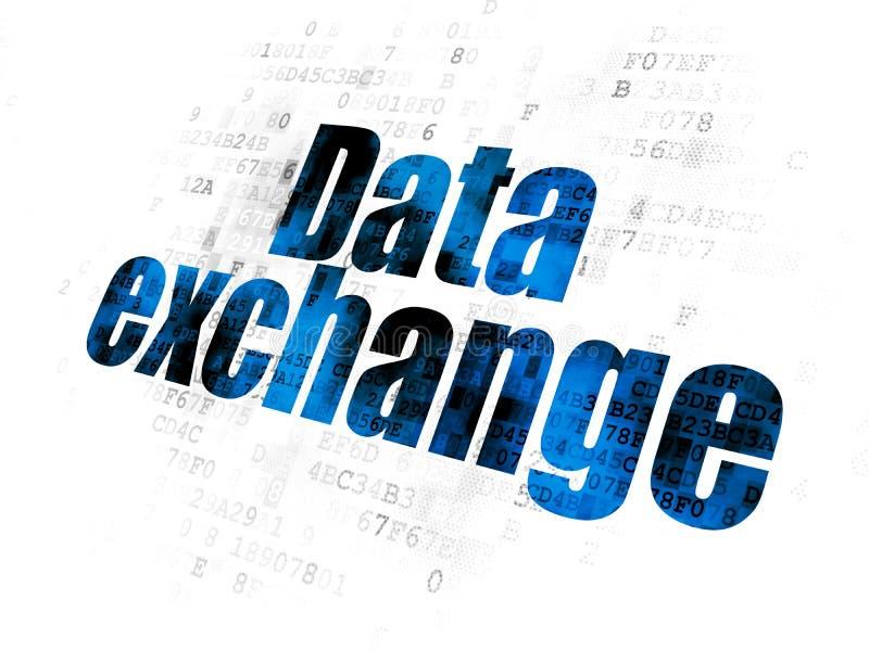 Концепция информации: Обмен данными на предпосылке цифров иллюстрация вектора