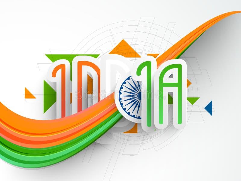 Концепция индийских торжеств дня и Дня независимости республики иллюстрация штока