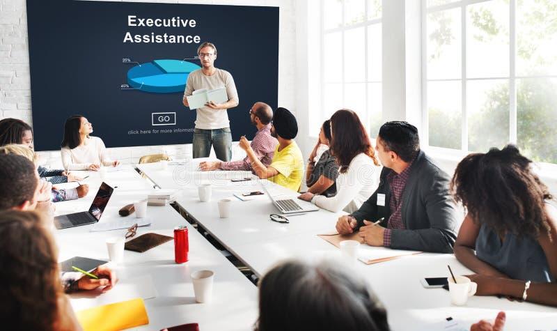 Концепция исполнительной сети корпоративного бизнеса помощи онлайн стоковые фото