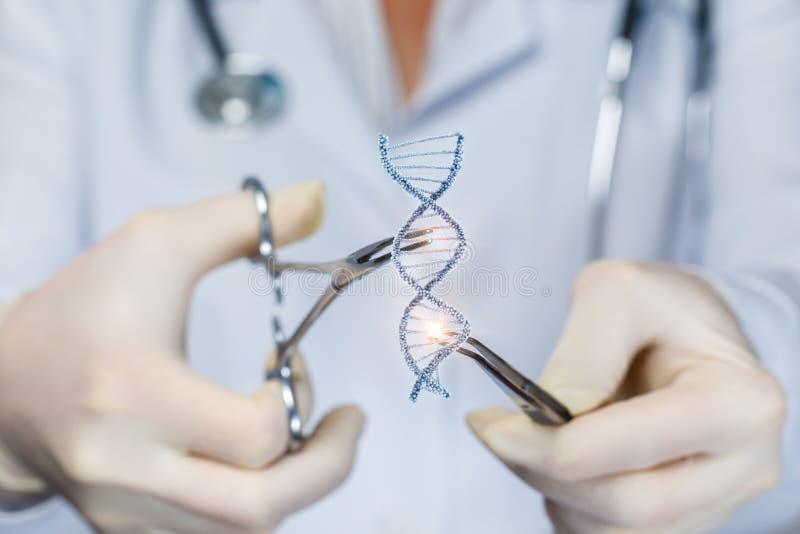 Концепция исследования и испытания ДНК стоковое фото rf