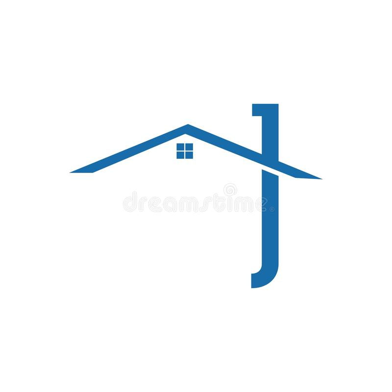 Концепция и идея вектора дизайна логотипа недвижимости Шаблон дизайна логотипа вектора недвижимости Значок дома абстрактный Домаш иллюстрация штока
