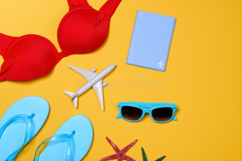 Концепция каникул рождества - выстрогайте, темповые сальто сальто, самолет, passpo стоковые изображения rf