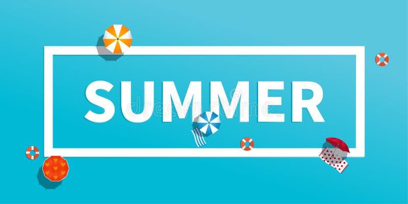 Концепция каникул летнего отпуска, иллюстрация плана оформления плоская бесплатная иллюстрация