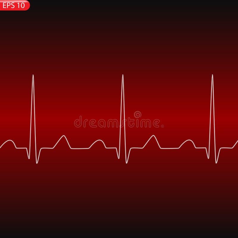 Концепция кардиологии с диаграммой частоты пульса бесплатная иллюстрация