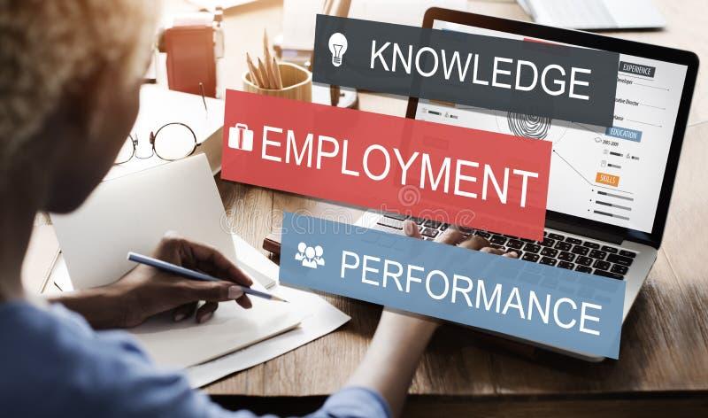 Концепция карьеры дела представления знания занятости стоковые изображения rf