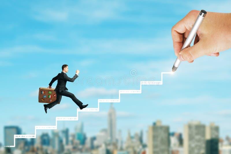Концепция карьеры и продвижения стоковое изображение rf