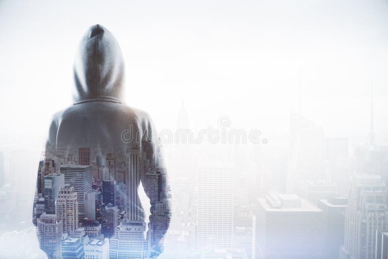 Концепция кибер атаки стоковая фотография rf