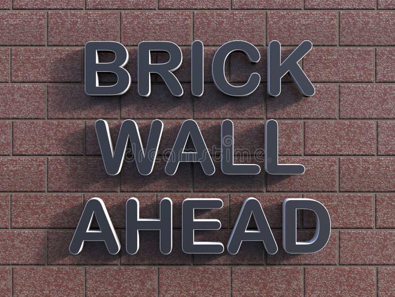 Концепция кирпичной стены вперед бесплатная иллюстрация