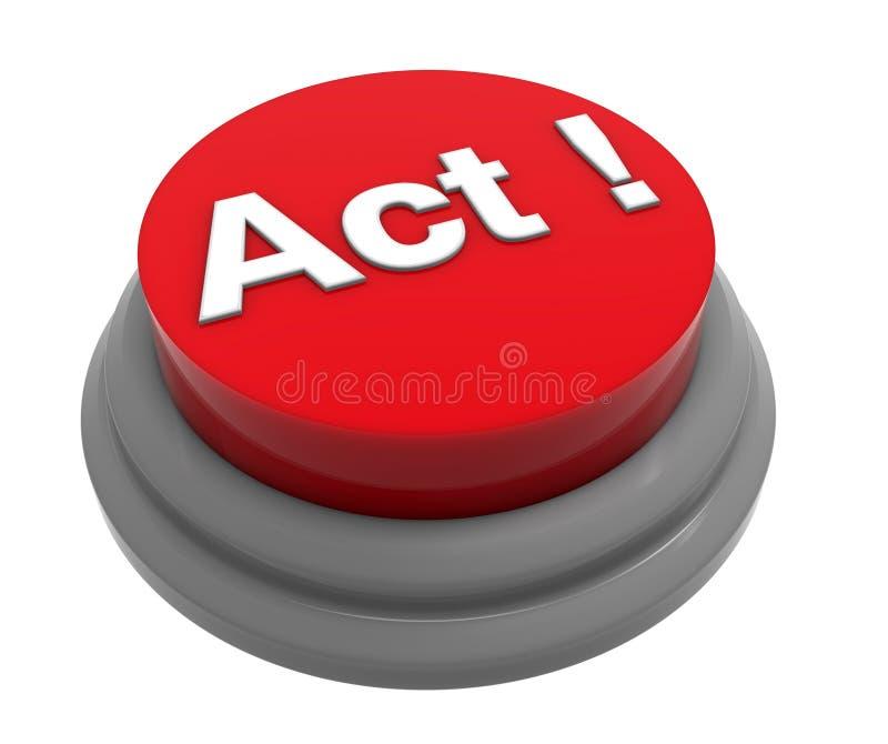 Концепция кнопки поступка иллюстрация вектора