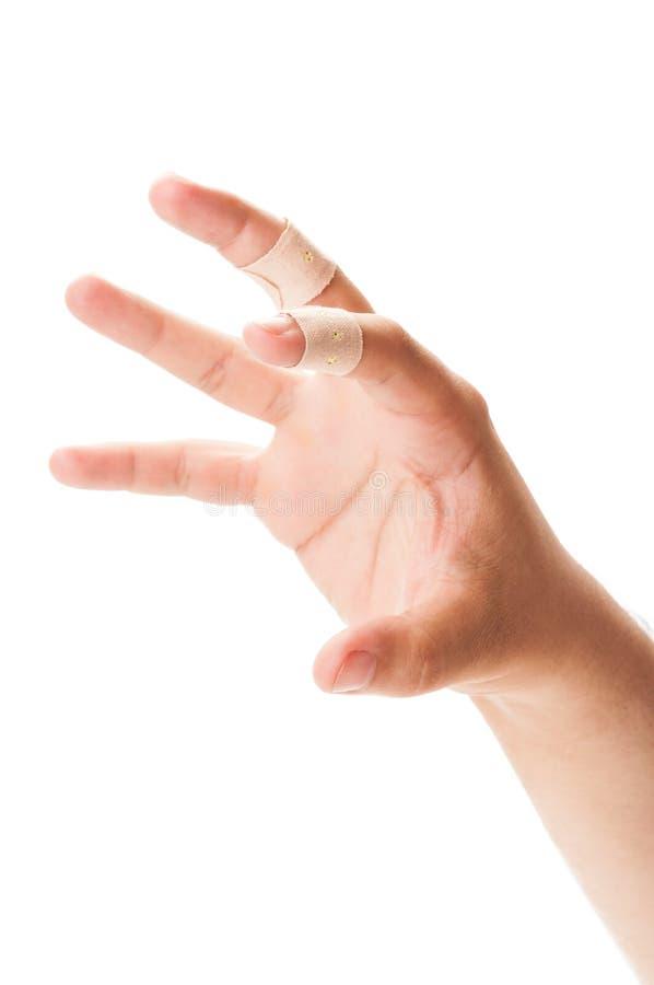 Концепция когтя с залатанными пальцами стоковая фотография rf