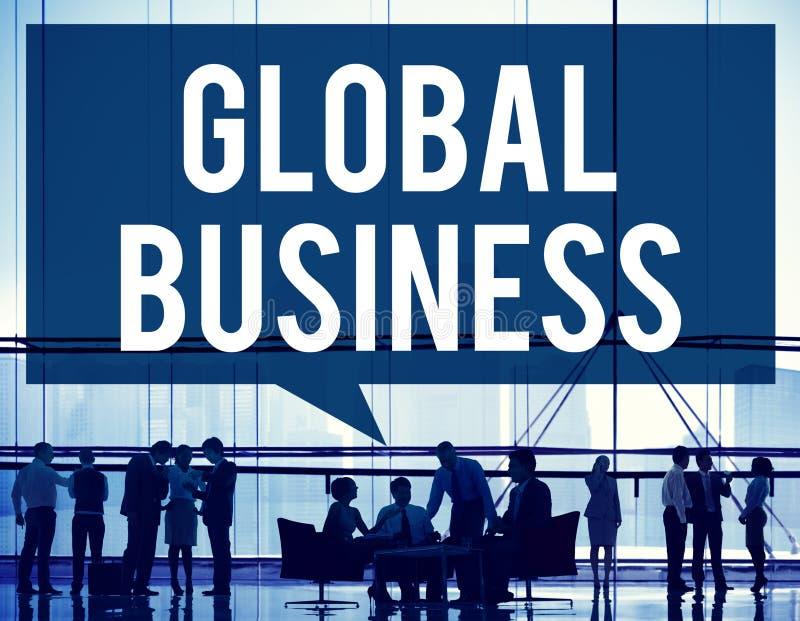 Концепция коммерции глобализации маркетинга глобального бизнеса стоковые изображения