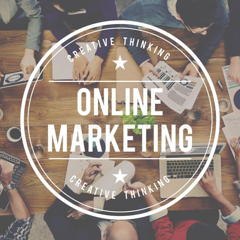 Концепция коммерции онлайн рекламы маркетинга клеймя стоковое фото rf