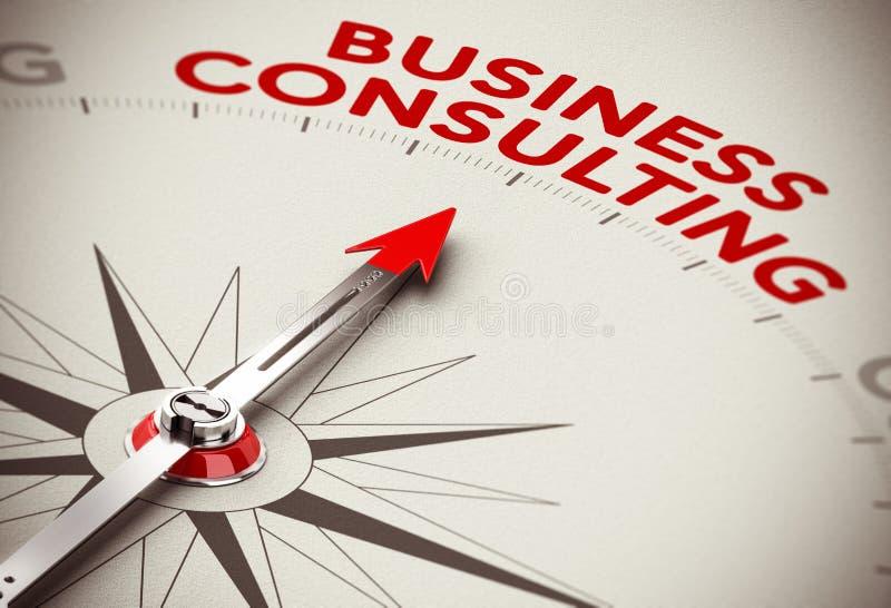 Концепция консультаций по бизнесу иллюстрация вектора