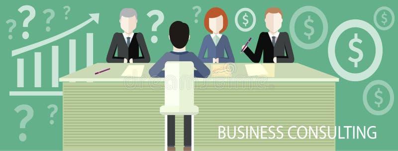 Концепция консультаций по бизнесу иллюстрация штока