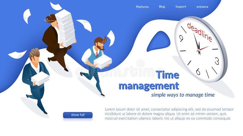 Концепция контроля времени компании иллюстрация штока