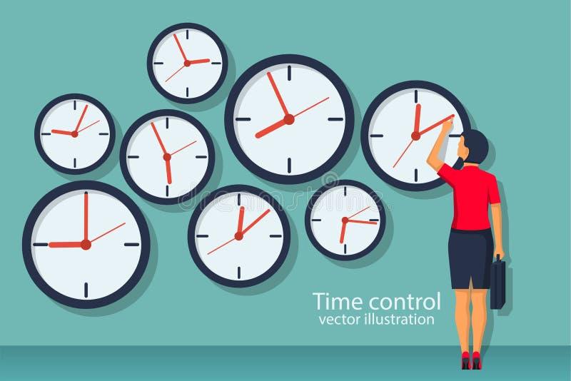 Концепция контроля времени бесплатная иллюстрация
