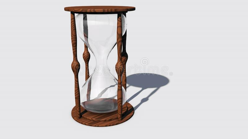 Концепция конца процесса Пустые часы стоковое фото rf