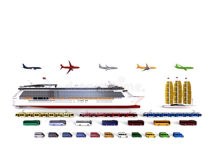 Концепция кораблей перемещения иллюстрация вектора