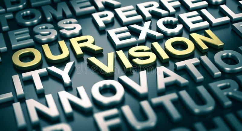 Концепция корпоративных коммуникаций, наше зрение бесплатная иллюстрация