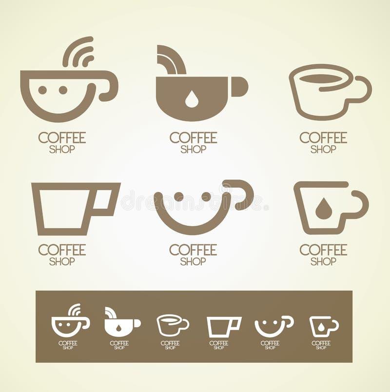 Концепция кофе дизайна логотипа и символа стоковое изображение rf