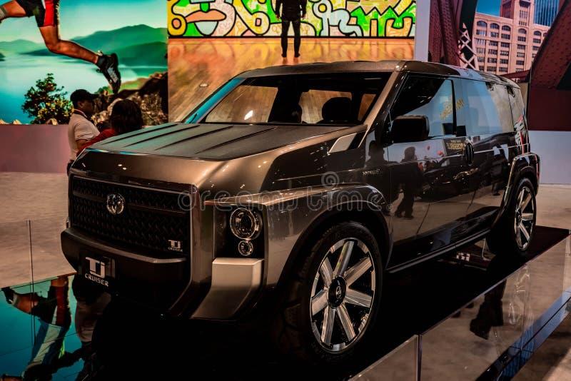 Концепция крейсера Тойота TJ Половина Van Половина SUV, Чикаго Autoshow 02/17/2019 стоковые изображения rf