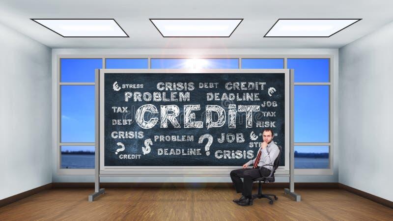 Концепция кредита чертежа стоковые фото