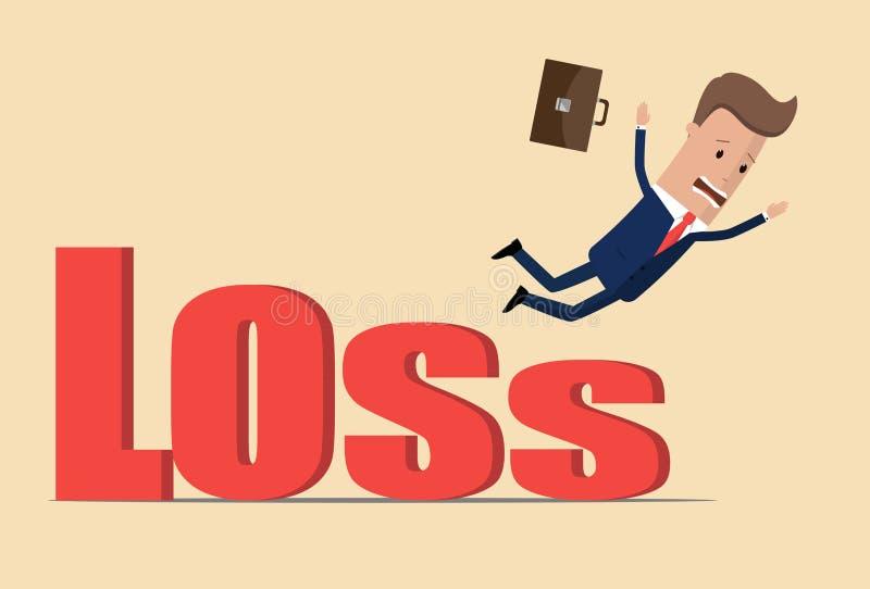 Концепция кризиса дела, бизнесмен падая от потери, концепции финансового кризиса, экономического кризиса Падение дела Illustrat в бесплатная иллюстрация