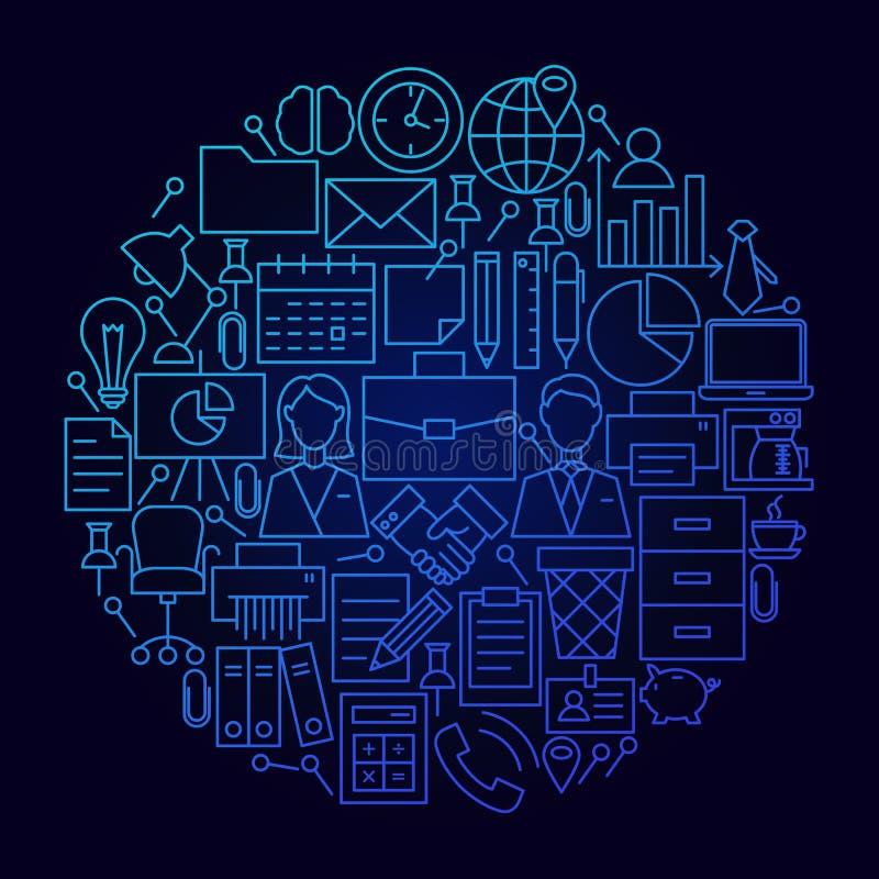 Концепция круга значка бизнес-линии бесплатная иллюстрация