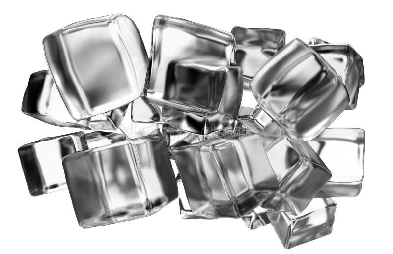 Концепция кубов льда иллюстрация штока