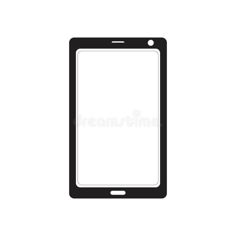 Концепция логотипа силуэта планшета смартфона иллюстрация штока