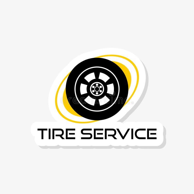 Концепция логотипа стикера автошины приспосабливая Черный значок логотипа автошины бесплатная иллюстрация
