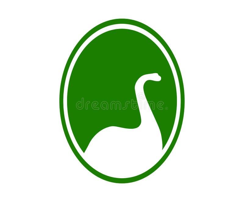 Концепция логотипа Dino бесплатная иллюстрация