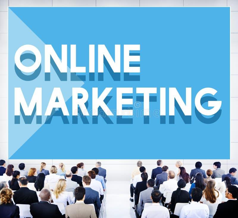Концепция маркетинга конференции семинара дела онлайн стоковое фото rf
