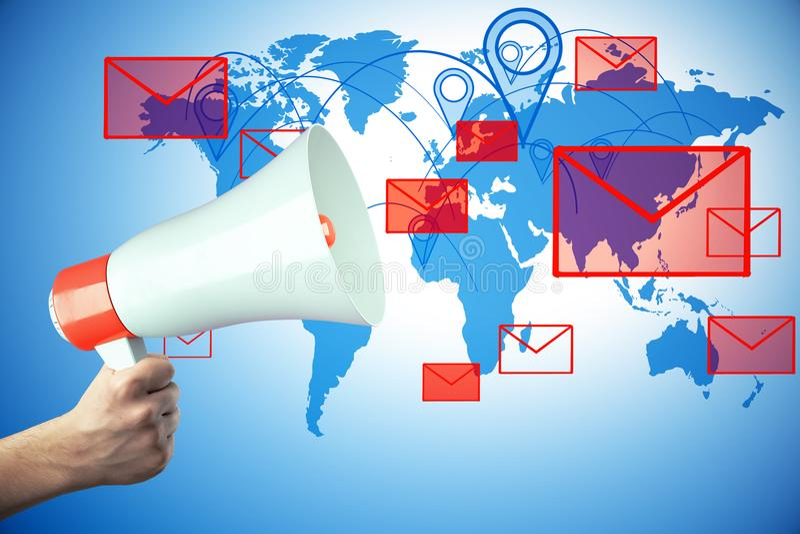Концепция маркетинга электронной почты иллюстрация штока