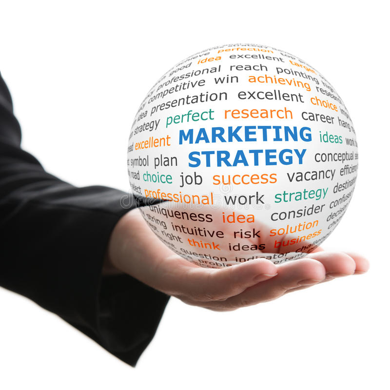 Концепция маркетинговой стратегии в деле стоковая фотография