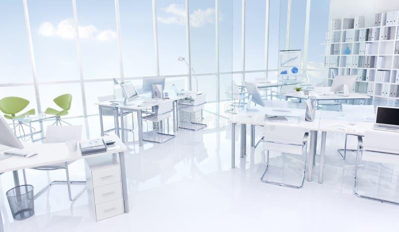 Концепция мебели офисного здания внутренняя стоковое изображение