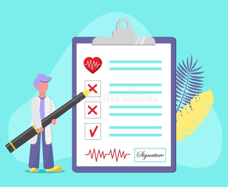 Концепция медицинского обследования иллюстрация штока