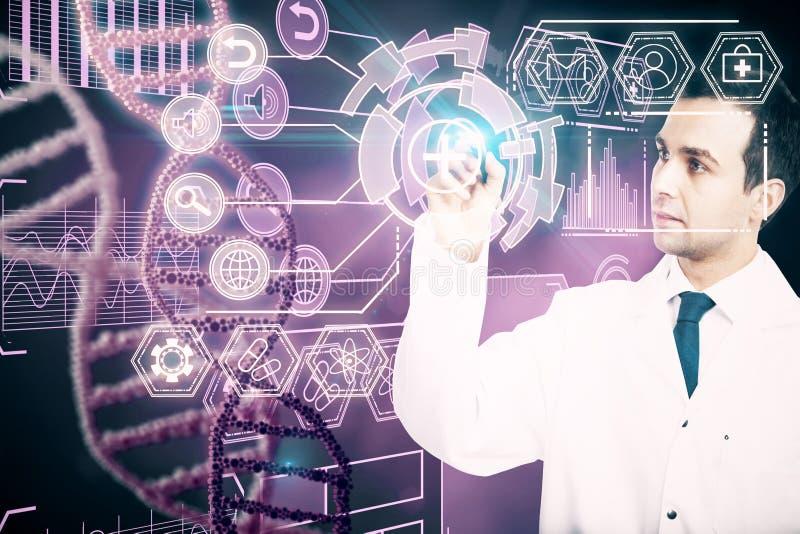 Концепция медицины и будущего стоковое изображение rf
