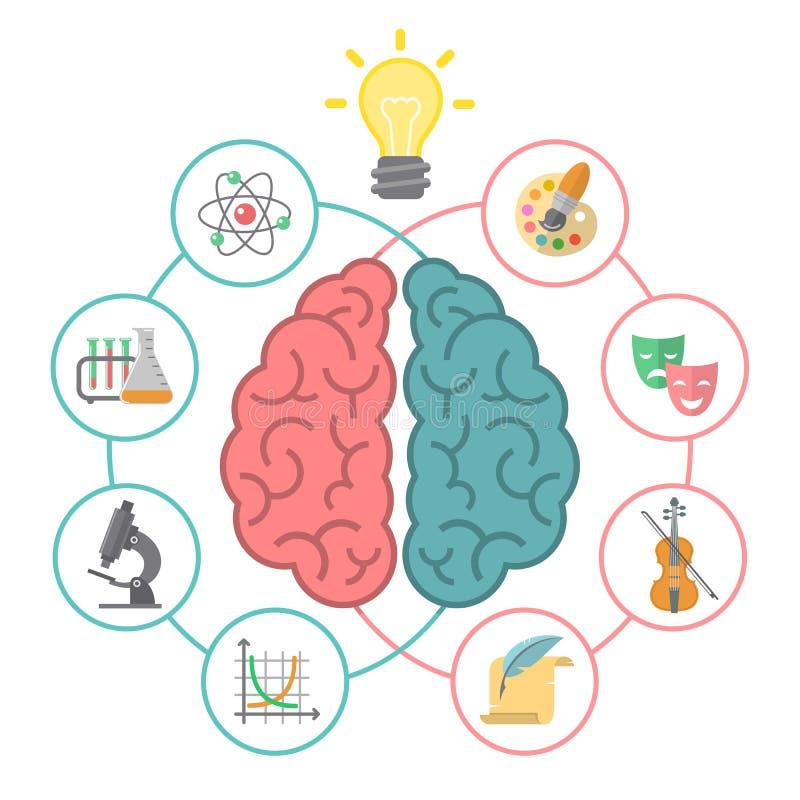 Концепция мозга иллюстрация штока