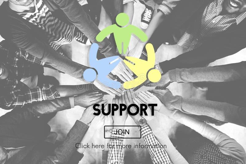Концепция мотивировки помощи помощи сотрудничества поддержки стоковые изображения
