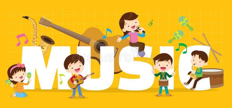 Концепция музыки игры бесплатная иллюстрация