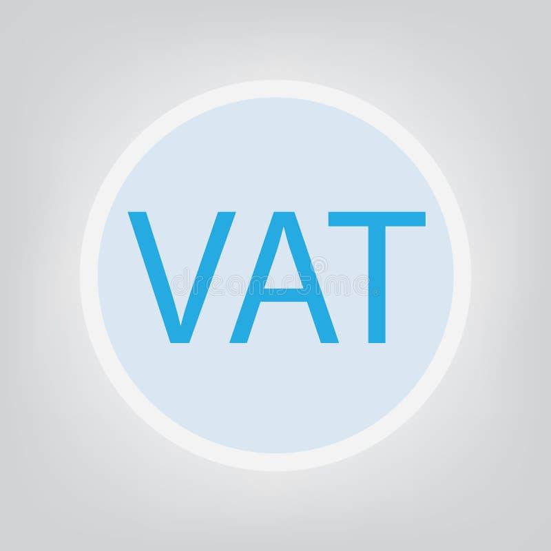 Концепция налога на добавленную стоимость НДС иллюстрация вектора