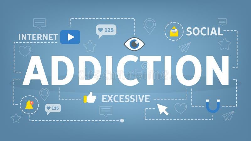 Концепция наркомании интернета социальная Проблема современной технологии социальная бесплатная иллюстрация