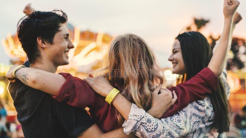 Концепция наслаждения счастья отдыха занятности смешная стоковые фото
