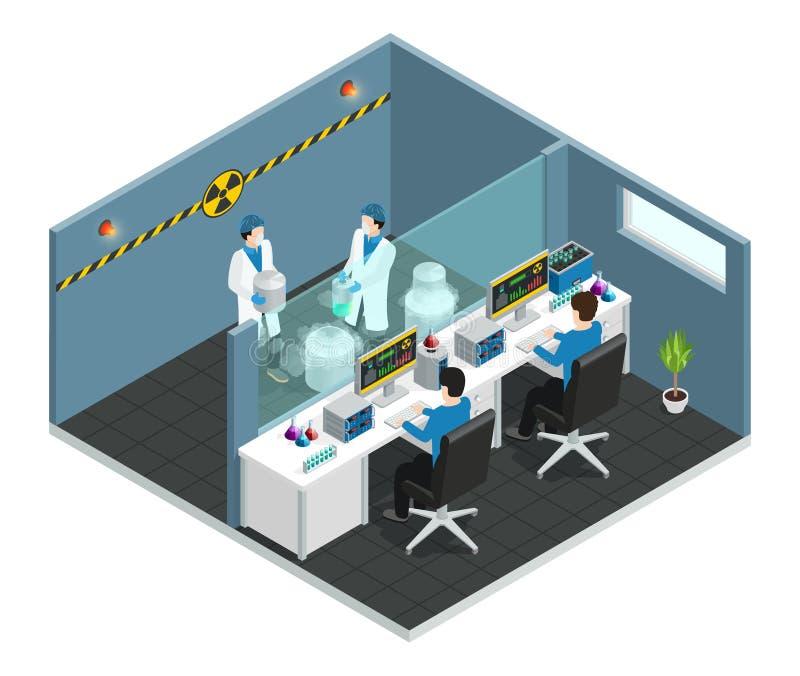 Концепция научной лаборатории равновеликая иллюстрация штока
